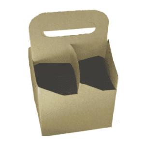 Caja de carton para 4 botellas